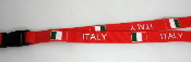 Italy (Red) Lanyard