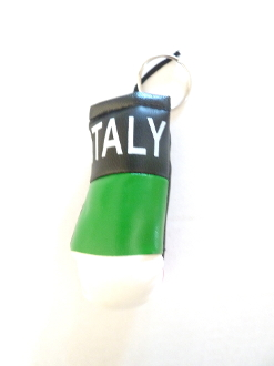 Italy Boxing Glove Keychain