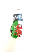 Wales Boxing Glove Keychain
