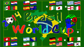 2014 Brasil World Cup 3x5 Feet Flag